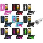 Color Hybrid Heavy Duty Hard/Soft Case Cover+USB Charger for HTC One X / XL