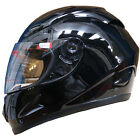 LEOPARD LEO-818 Vintage Full Face Scooter Motorcycle Crash Helmet Gloss Black