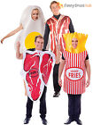 Adult Egg and Bacon Funny Fancy Dress Food Novelty Couples Humour Stag Costume