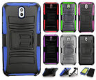 For HTC Desire 610 Combo Holster HYBRID KICK STAND Hard Rubber Case Phone Cover