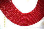 """Precious RUBY 3-4.5mm (50 Loose Faceted Rondelle) Beads Select-A-Size Grade """"A"""""""