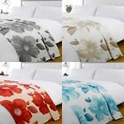 Dreamscene Poppy Floral Fleece Throw, 120 x 150 Cm