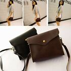 Women PU Leather Satchel Clutch Purse Messenger Shoulder Bags Brown Handbag Tote