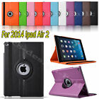 360 Rotating Smart PU LEATHER CASE COVER Fr New APPLE iPAD AIR 2 Ipad 6 6th 2014