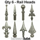 Qty 6 - Rail Heads - Weld On  For Wrought Iron Garden Gates Driveway Gates