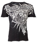 Xtreme Couture AFFLICTION Mens T-Shirt OUTLAW Skulls Tattoo Biker S-4XL $40 image