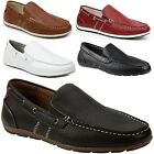 GBX Mens Casual Loafers Slip On Double Gore Moc Toe Boat Shoes Comfort Moccasins