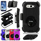 Hybrid Best Impact Shockproof Case + Holster Belt Clip for Samsung Galaxy S3 III
