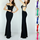 XMAS GIFT Sexy Backless Long Mermaid Masquerade Party Gowns Evening Prom Dresses
