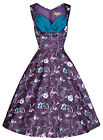 NEW LINDY BOP 'OPHELIA' MOONLIT FOREST PRINT 1950'S VINTAGE STYLE PARTY DRESS