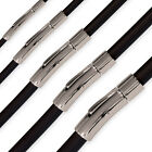 DESIGN CLASP RUBBER choker NECKLACE pendant stainless steel bracelet wristband