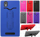 For T-Mobile ZTE ZMAX Z970 Rubber Hybrid HARD Case Cover with Snap Tail STAND