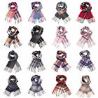 Dunedin Lambswool 100% Lambswool Modern Check Tartan Scarf Various Colours A