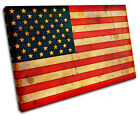 Maps Flags Abstract American SINGLE CANVAS WALL ART Picture Print VA