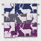 Catherine Lansfield Soft Reversible Stag Deer Pattern 100% Cotton Bath Towel