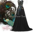 BNWT PEACOCK Sequin Bead Embellished Maxi Prom Evening Ballgown Dress UK 8 - 18