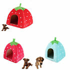 Multi Colors Cute Cashmere Foldable Strawberry Pet House Dog Bed Cat Bed L M S