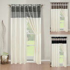 """Bolero"" Ready Made Fully Lined Ring Top Eyelet Curtains Available In 7 Sizes"