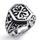 Jewelry 316L Stainless Steel Titanium Thor's Hammer Biker Casted Ring M073594