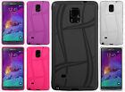 For Samsung Galaxy Note 4 Texture Rubber SILICONE Soft Gel Skin Case Phone Cover