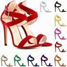 2014Hot Womens Party Faux Velvet High Heels Shoes Sandals SZ 2 3 4 5 6 7 8 9