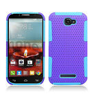 Alcatel ONETOUCH Fierce 2 MESH Hybrid Silicone Rubber Skin Protector Case