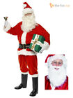 Mens Santa Claus Full Costume Festive Father Christmas Xmas Fancy Dress Outfit