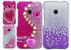 For Nokia Lumia 530 Crystal Diamond BLING Protector Hard Case +Screen Protector