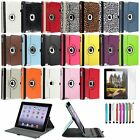 For Apple iPad 4 4th 3 3rd 2 2nd 360 Rotating Leather Case Cover Swivel Stand