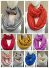 (12 colors) New Fashion knit crochet Lurex Shimmer infinity circle loop scarf