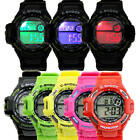 Men's LED Colourful Lights Sport Digital Analog Quartz Wrist Watch Waterproof