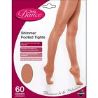 LADIES SHIMMER FULL FOOT DANCE TIGHTS IN LIGHT TOAST - 3 SIZES - S, M, L