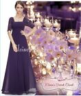 BNWT PENNY 20s Gatsby Purple Aubergine Lace Maxi Prom Evening Cruise Dress 6-18