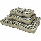 ME & MY LUXURY SUPER SOFT GREEN CHECK DOG/PUPPY/CAT PET BED FLEECE/CUSHION MAT