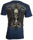 XTREME COUTURE by AFFLICTION Mens T-Shirt SANDS OF TIME Tattoo Biker $40 image