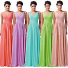 CHEAPEST❤❤ Long Chiffon V Evening Formal Party Ball Gown Prom Bridesmaid Dresses