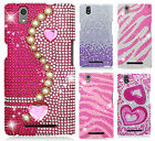 For T-Mobile ZTE ZMAX Z970 Crystal Diamond BLING Protector Hard Case Phone Cover