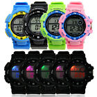 Men's Colorful LED Digital Alarm Waterproof Rubber Sports Analog Wrist watch