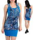 WOMENS DRESS Sublimation Paisley Lace spandex overlay Necklace TUBE S M