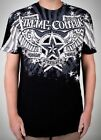Xtreme Couture AFFLICTION Mens T-Shirt UNIVERSE Wings Tattoo Biker M-XXL $40 image