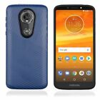 Motorola Moto E5 PLUS Shockproof Lines Hybrid Impact Dual Layered + Screen Guard