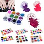 Multi Color Nail Art Glitter Powder For UV Gel Acrylic Powder Decoration Tips