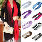 Women Gradient Cashmere Large Long Stole Pashmina Tassels Wool Shawl Scarf Wraps