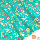 per 1/2 metre/FQ Magical Garden JADE colour dressmaking/craft fabric 100% COTTON