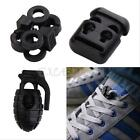 10/20pcs Black Clamp Cord Lock Stopper Elastic Shoelace Buckle End Toggle