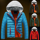 WINTER FASHION Mens Boys Thicken Warm Hooded Padded Down Coat Jackets Outerwear