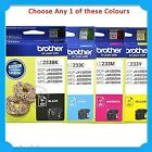 Any 1xBrother Genuine LC233BK/LC233C/LC233M/LC233Y Ink->DCP-J4120DW/MFC-J5720DW