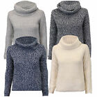 Ladies Jumpers Wool Mix Womens Polo Neck Knitted Top Pullover Amara Reya Winter