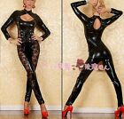 2015 Hot Sale Body Slim Sexy Queen Catsuit Bodysuit Jumpsuit with Lace Trimmed