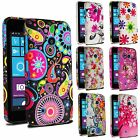 For Various Nokia Lumia Phone Printed Flower Silicone Gel Skin Case Soft Cover